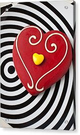 Red And Yellow Heart Acrylic Print by Garry Gay