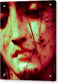 Red Angel Of Grief Acrylic Print