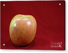 Acrylic Print featuring the photograph Red Apple by Michael Waters
