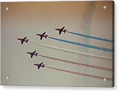 Red Arrows Acrylic Print by Graham Parry