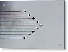 Red Arrows Horizontal Acrylic Print by Jasna Buncic