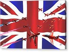 Red Arrows Union Jack Acrylic Print