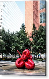Red Balloon Flower Acrylic Print by Kristin Elmquist