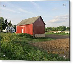 Acrylic Print featuring the photograph Red Barn Four by Tina M Wenger