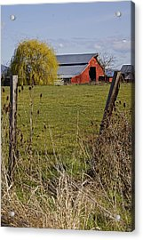Red Barn Through A Broken Fence Photograph By Mick Anderson