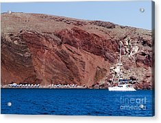 Acrylic Print featuring the photograph Red Beach by Leslie Leda
