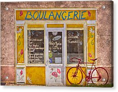 Red Bike At The Boulangerie Acrylic Print