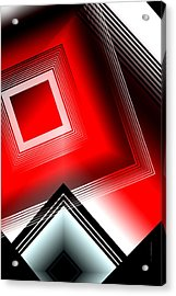 Red Black And White Acrylic Print by Mario Perez