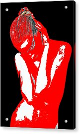 Red Black Drama Acrylic Print