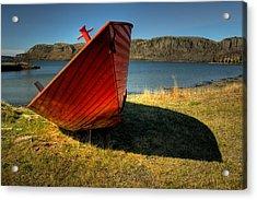 Red Boat Acrylic Print by Jakub Sisak