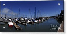 Acrylic Print featuring the photograph Red Boat Panorama  by Sherry Davis