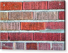 Red Brick Wall Acrylic Print