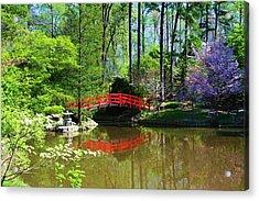 Acrylic Print featuring the photograph Red Bridge by Bob Whitt