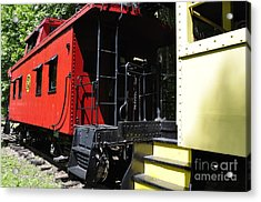 Red Caboose Acrylic Print by Thomas R Fletcher
