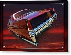 Red Cadillac Acrylic Print by Blake Richards