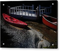 Red Canoes Acrylic Print