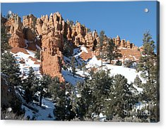 Red Canyon Acrylic Print by Bob and Nancy Kendrick
