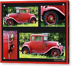 Red Car Acrylic Print by Lorraine Louwerse
