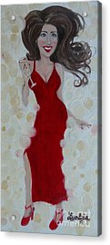 Red Champagne Acrylic Print
