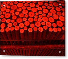 Red Circle Sticks Acrylic Print by Kym Backland