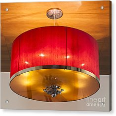 Red Circles Chandelier  Acrylic Print by Chavalit Kamolthamanon
