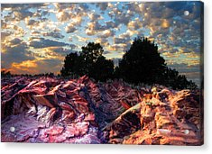 Red Cliff Sunset Acrylic Print by Ric Soulen