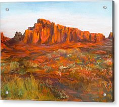 Red Cliffs Acrylic Print by Jack Skinner