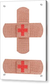 Red Cross Bandages Acrylic Print by Blink Images