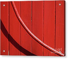 Acrylic Print featuring the photograph Red Curve by Newel Hunter