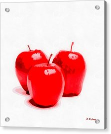 Red Delicious Apples Acrylic Print by Elizabeth Coats