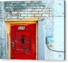 Red Door 325  Acrylic Print by Steven Milner