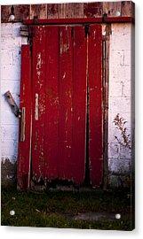 Red Door Acrylic Print by Cale Best