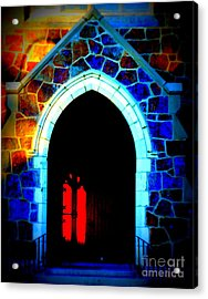 Red Door Church Acrylic Print