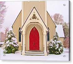 Red Door Church Acrylic Print