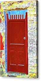 Red Door Acrylic Print by Dulce Levitz