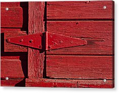 Red Door Henge Acrylic Print by Garry Gay