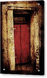 Red Door Acrylic Print by Julie Williams