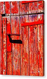 Red Door Acrylic Print by Rick Bragan