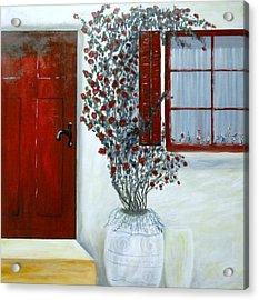 Red Door Rose Acrylic Print