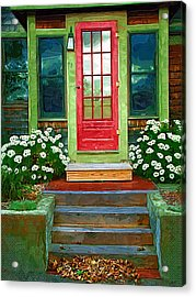 Red Door Acrylic Print by Susan Lee Giles