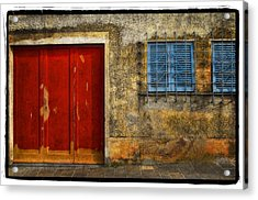 Red Doors Acrylic Print by Mauro Celotti