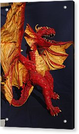 Red Dragon Acrylic Print by Rick Ahlvers
