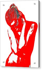 Red Drama Acrylic Print by Naxart Studio