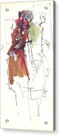 RED Acrylic Print by Ertan Aktas