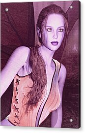 Acrylic Print featuring the painting Red Fae by Maynard Ellis