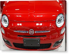 Red Fiat . 7d9371 Acrylic Print by Wingsdomain Art and Photography