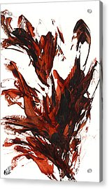Acrylic Print featuring the painting Red Flame IIi 64.121410 by Kris Haas
