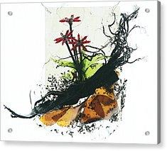 Red Flowers Acrylic Print by Mariann Taubensee