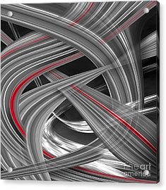 Acrylic Print featuring the digital art Red Flows by Johnny Hildingsson