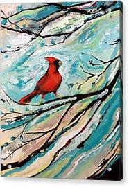 Red Fury Acrylic Print